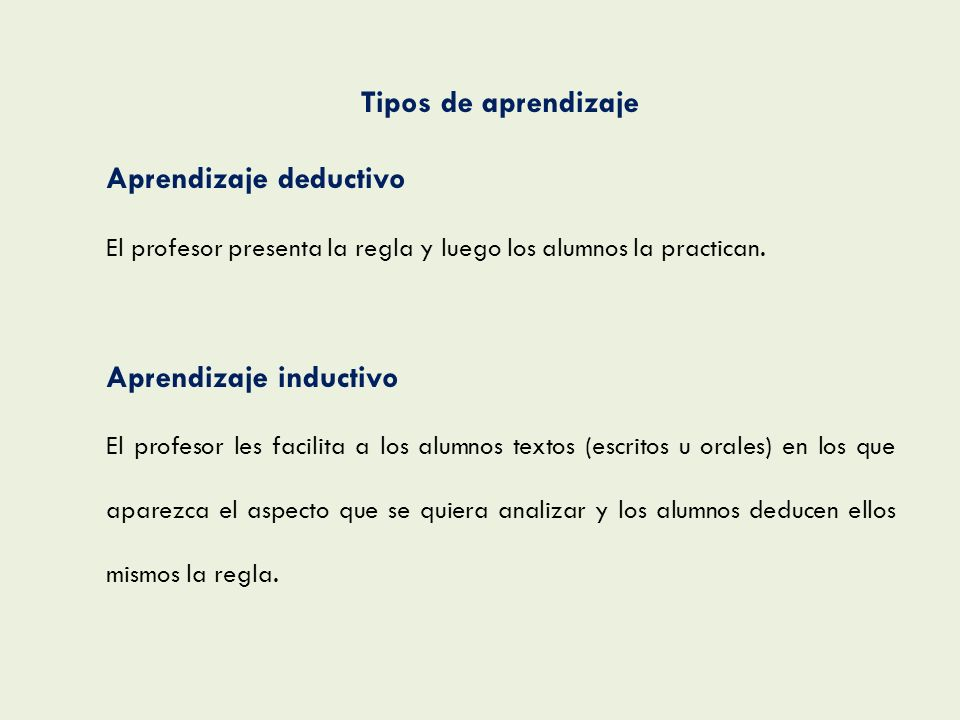 Aprendizaje deductivo