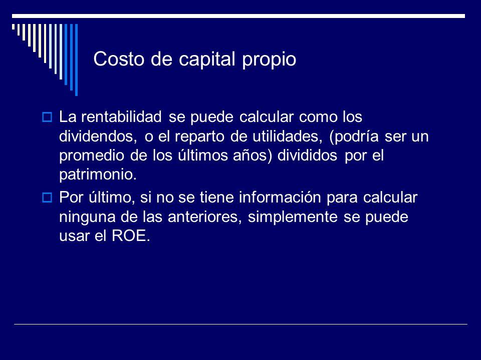 Costo de capital propio