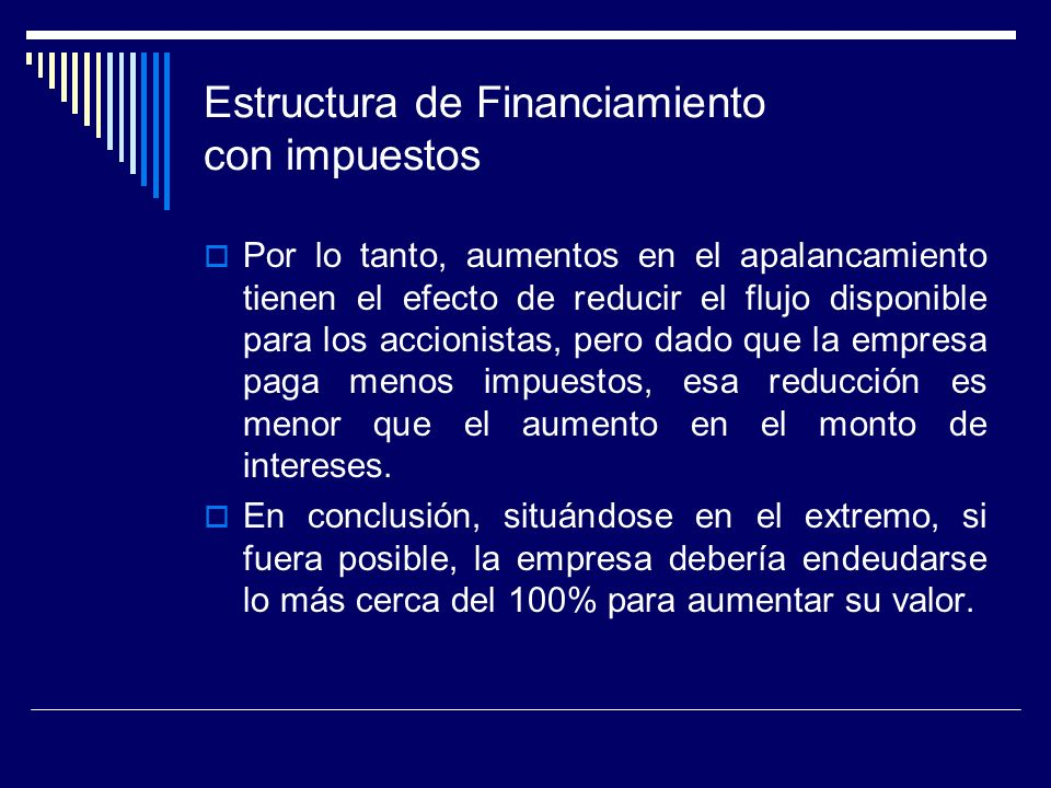 Estructura de Financiamiento con impuestos