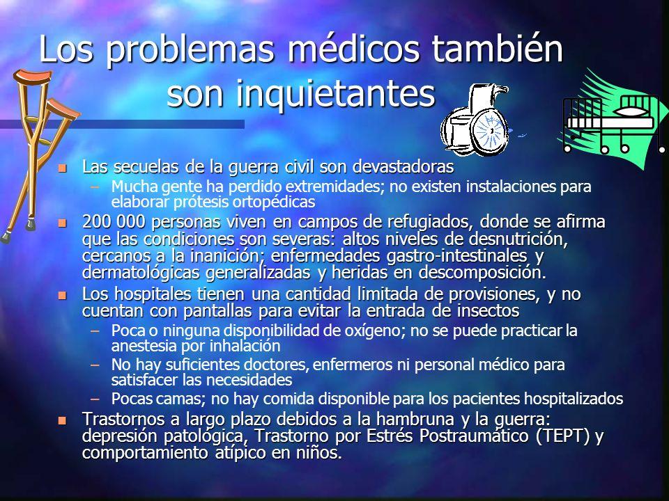 Los problemas médicos también son inquietantes