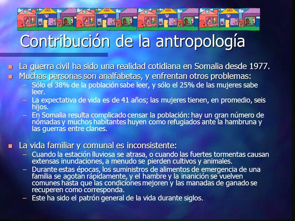 Contribución de la antropología