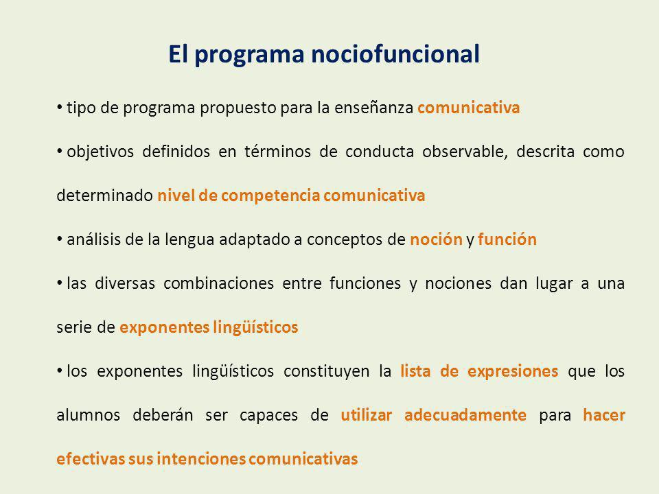 El programa nociofuncional