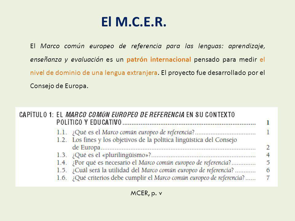 El M.C.E.R.
