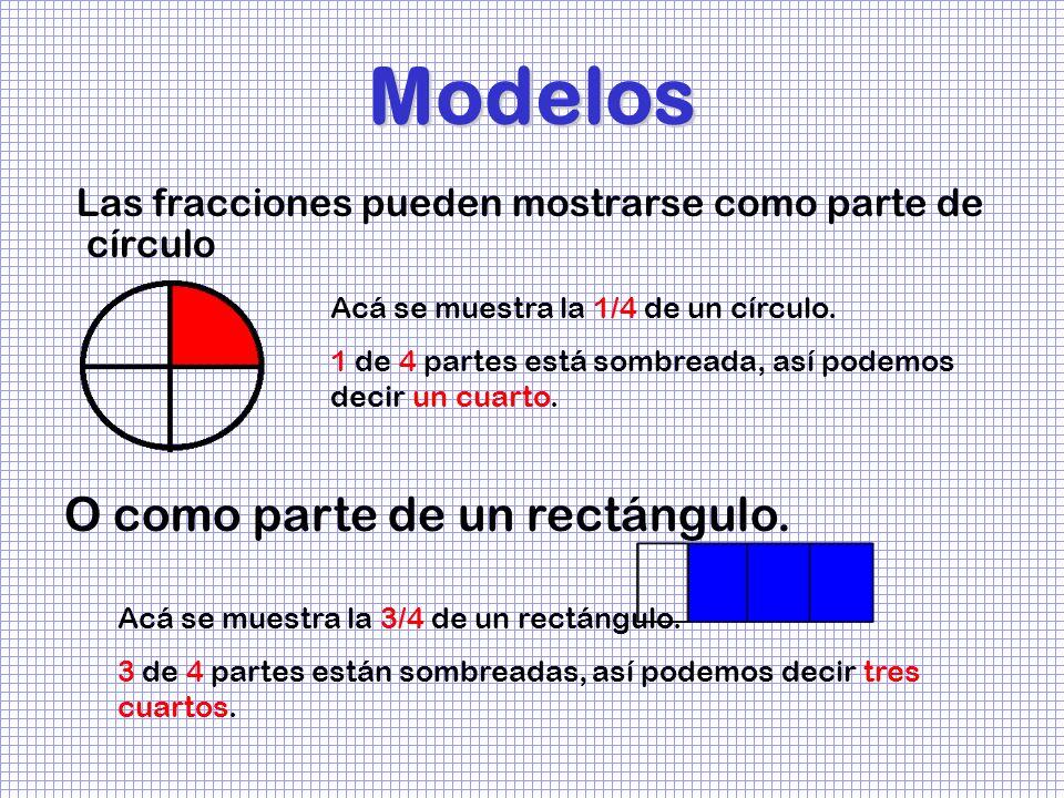 Modelos O como parte de un rectángulo.