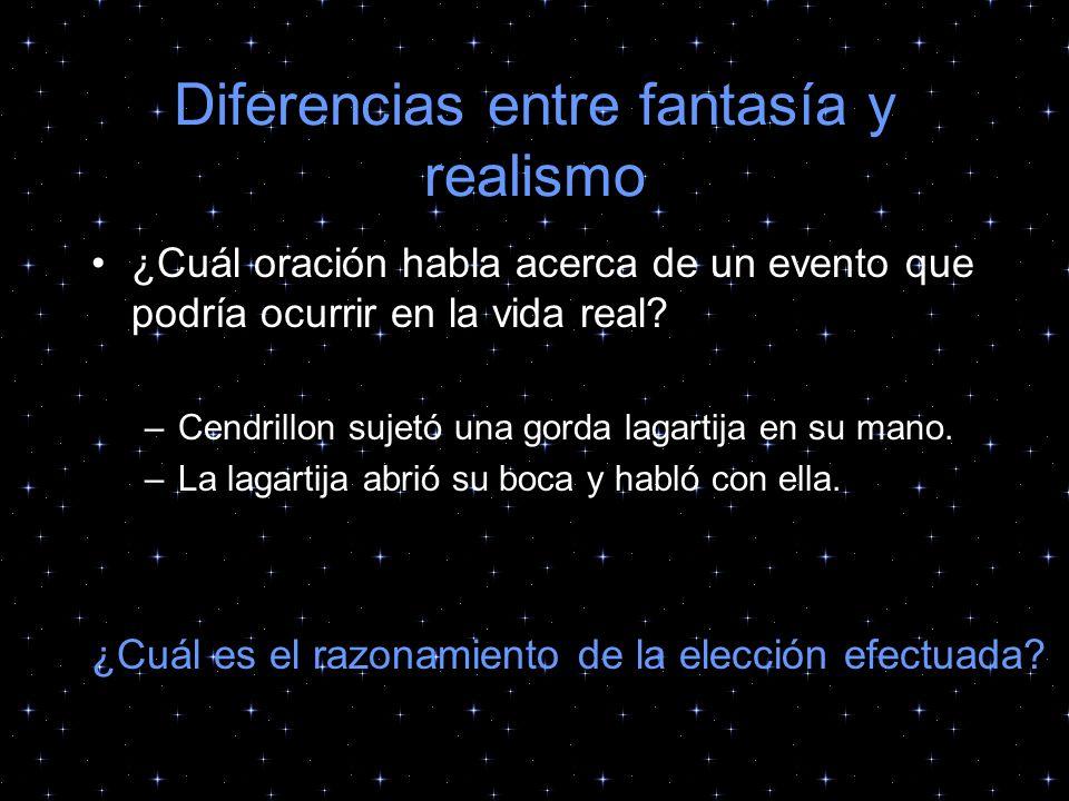 Diferencias entre fantasía y realismo
