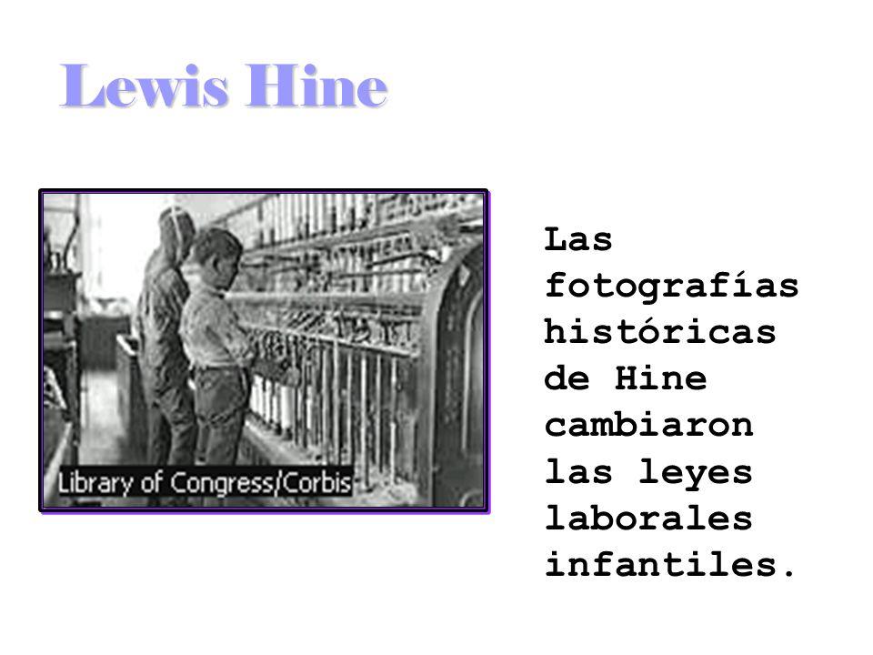 Lewis Hine Las fotografías históricas de Hine cambiaron las leyes laborales infantiles.