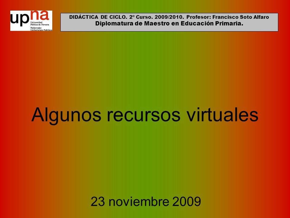 Algunos recursos virtuales
