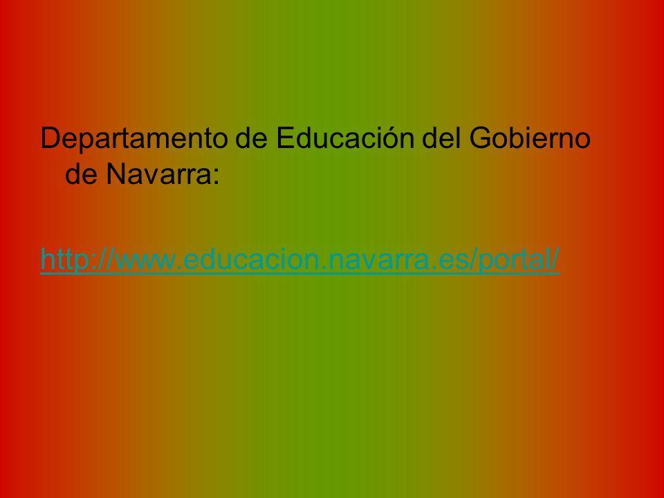 Departamento de Educación del Gobierno de Navarra: