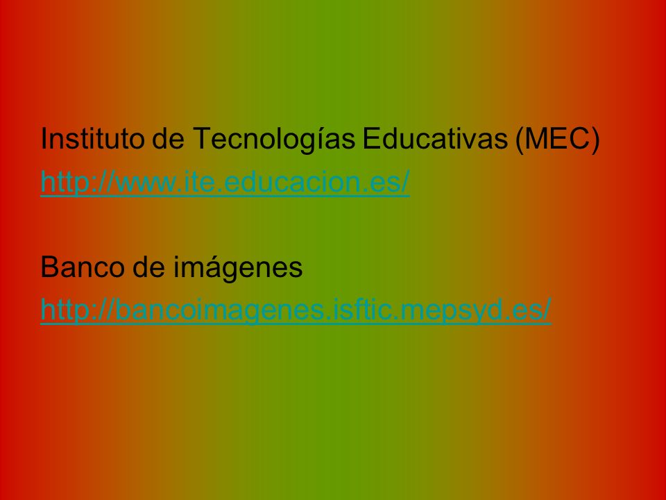 Instituto de Tecnologías Educativas (MEC)