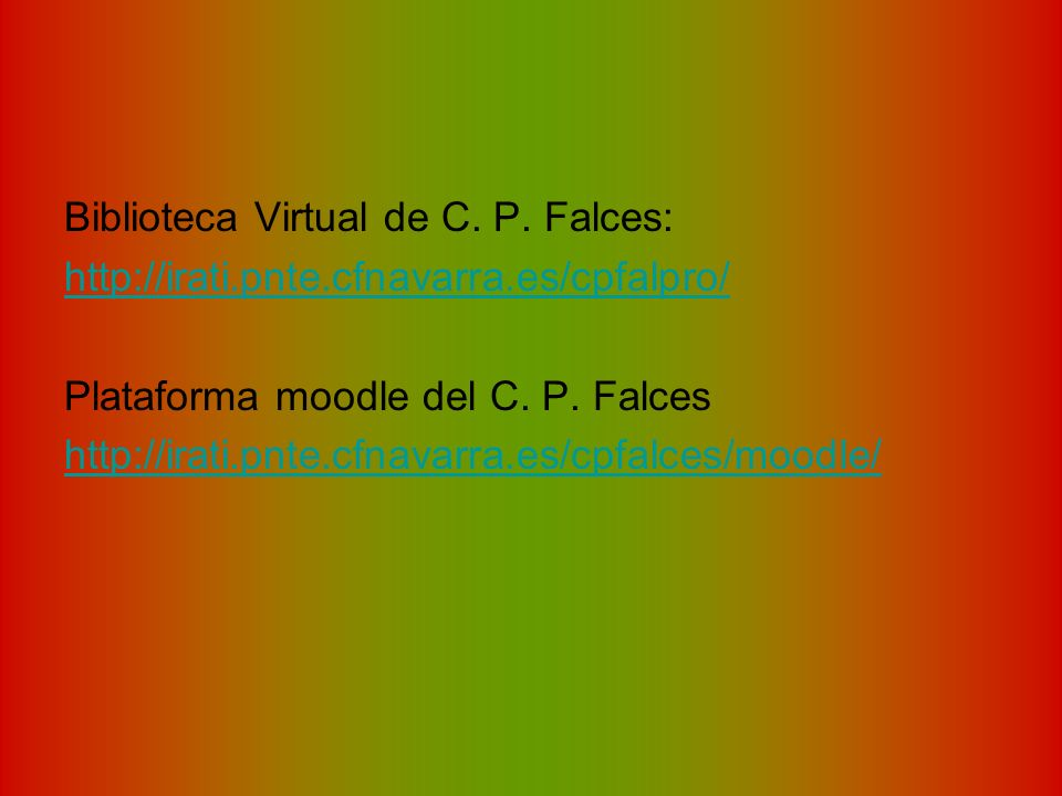 Biblioteca Virtual de C. P. Falces: