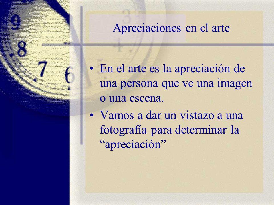 Apreciaciones en el arte