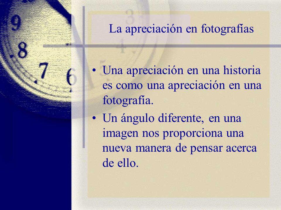 La apreciación en fotografías