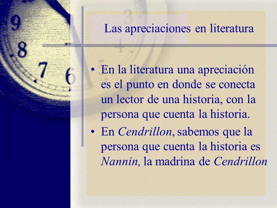 Las apreciaciones en literatura