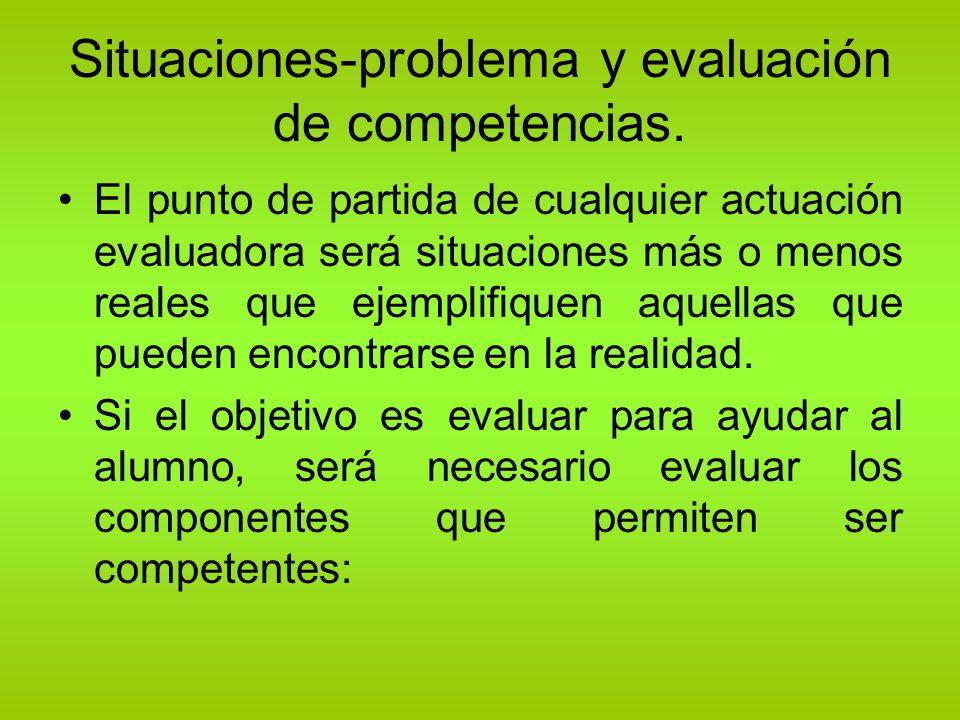 Situaciones-problema y evaluación de competencias.