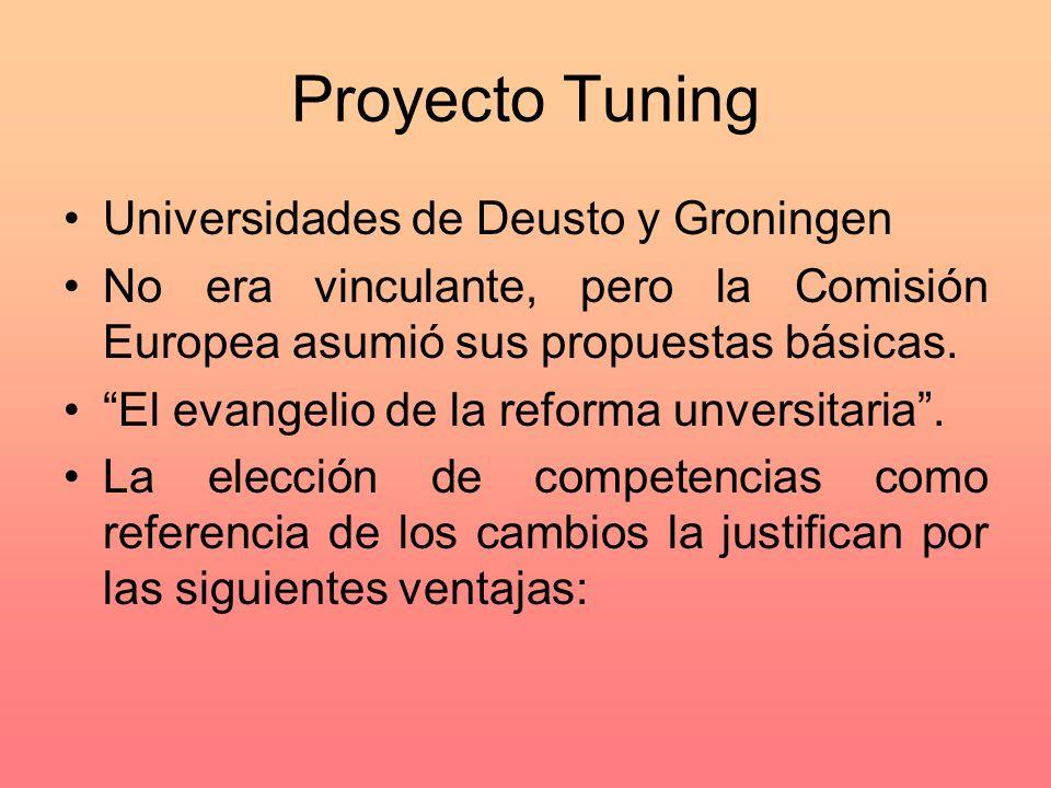 Proyecto Tuning Universidades de Deusto y Groningen
