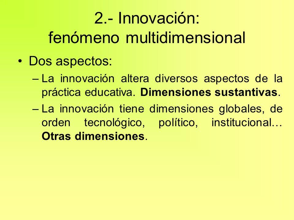 2.- Innovación: fenómeno multidimensional