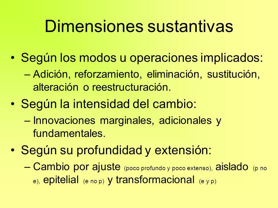 Dimensiones sustantivas