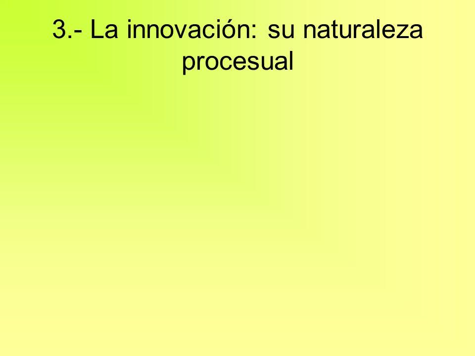 3.- La innovación: su naturaleza procesual