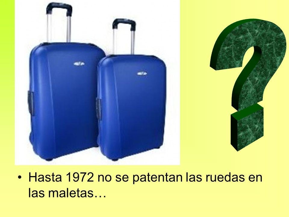 Hasta 1972 no se patentan las ruedas en las maletas…