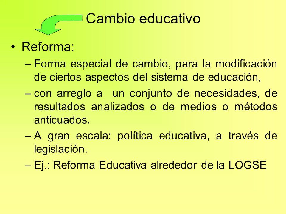 Cambio educativo Reforma: