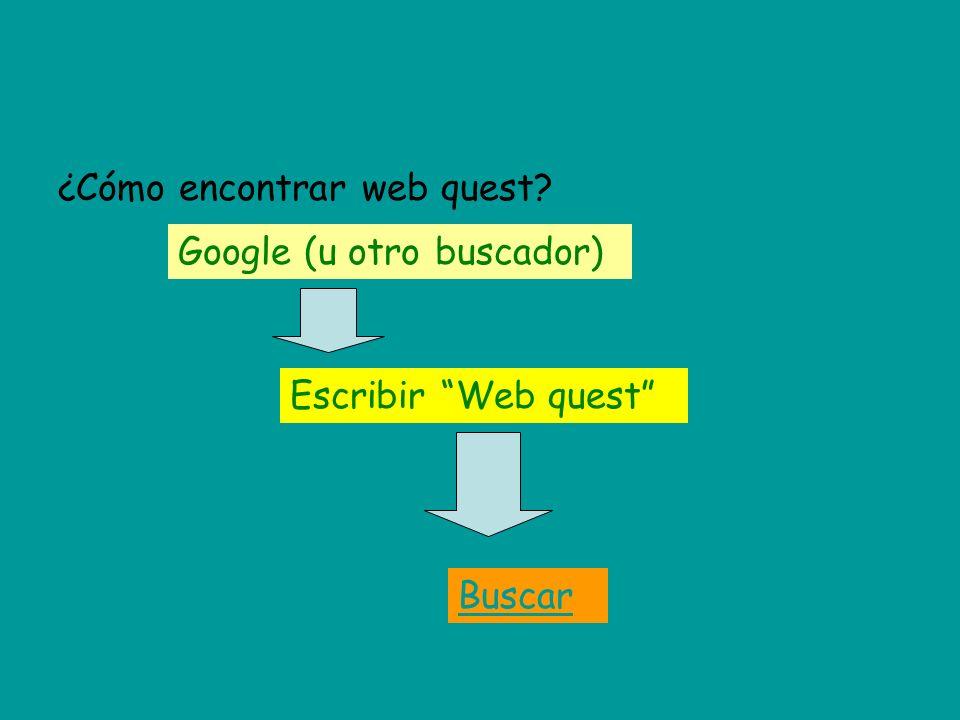 ¿Cómo encontrar web quest