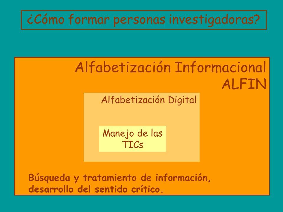 Alfabetización Informacional ALFIN