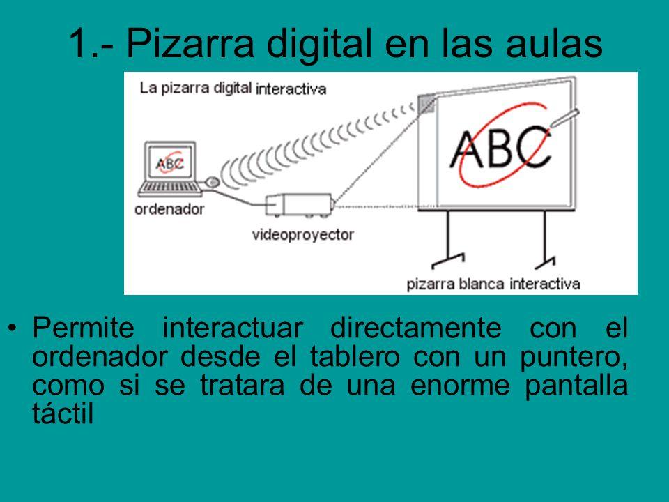 1.- Pizarra digital en las aulas