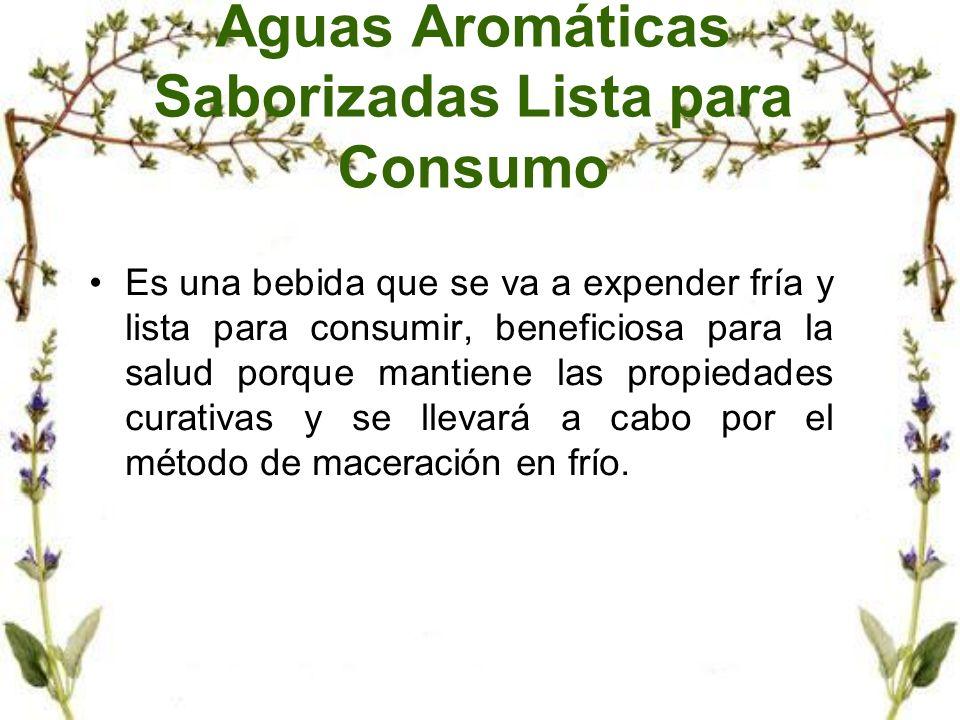 Aguas Aromáticas Saborizadas Lista para Consumo