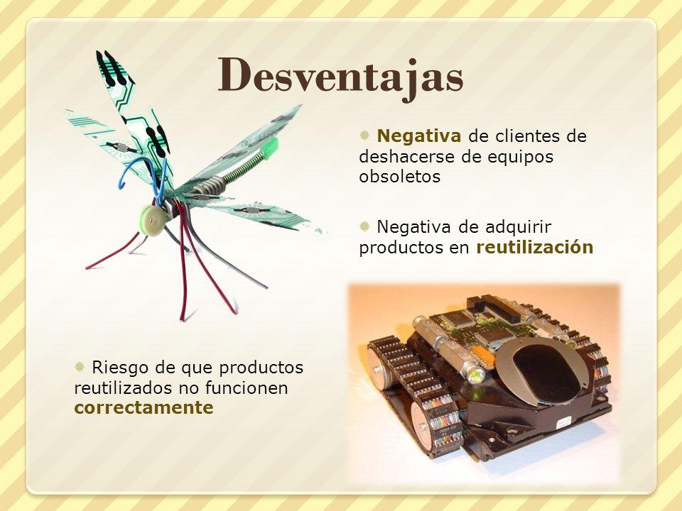 Desventajas Negativa de clientes de deshacerse de equipos obsoletos