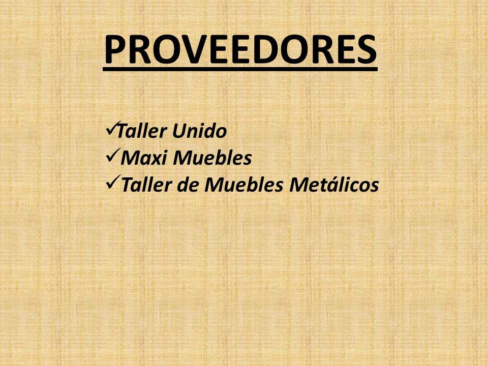 PROVEEDORES Taller Unido Maxi Muebles Taller de Muebles Metálicos