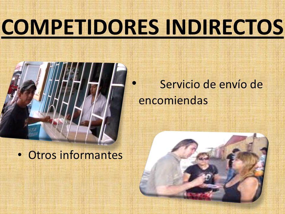 COMPETIDORES INDIRECTOS