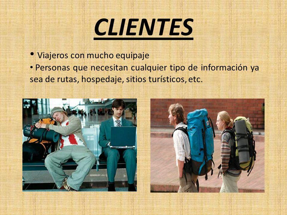 CLIENTES Viajeros con mucho equipaje