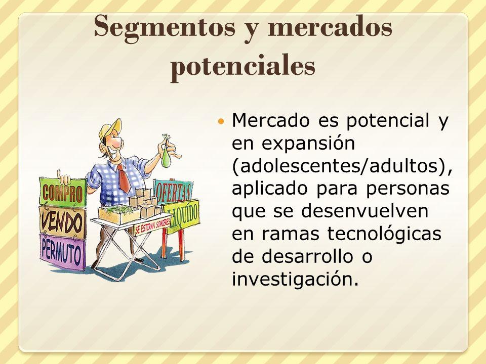 Segmentos y mercados potenciales