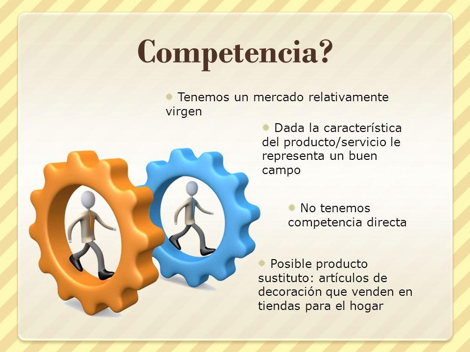Competencia Tenemos un mercado relativamente virgen