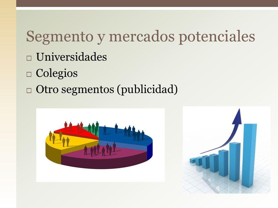 Segmento y mercados potenciales