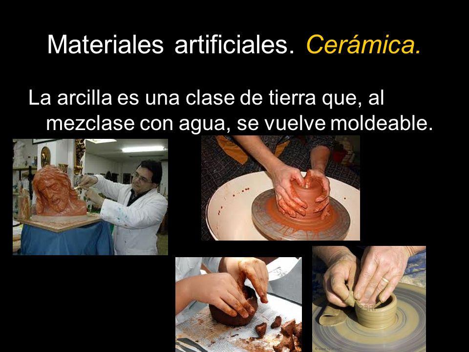 Materiales artificiales. Cerámica.