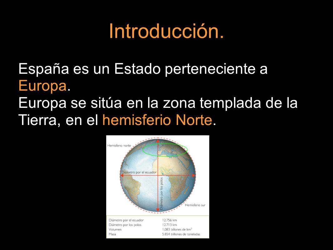 Introducción. España es un Estado perteneciente a Europa.