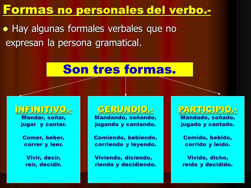 Formas no personales del verbo.-