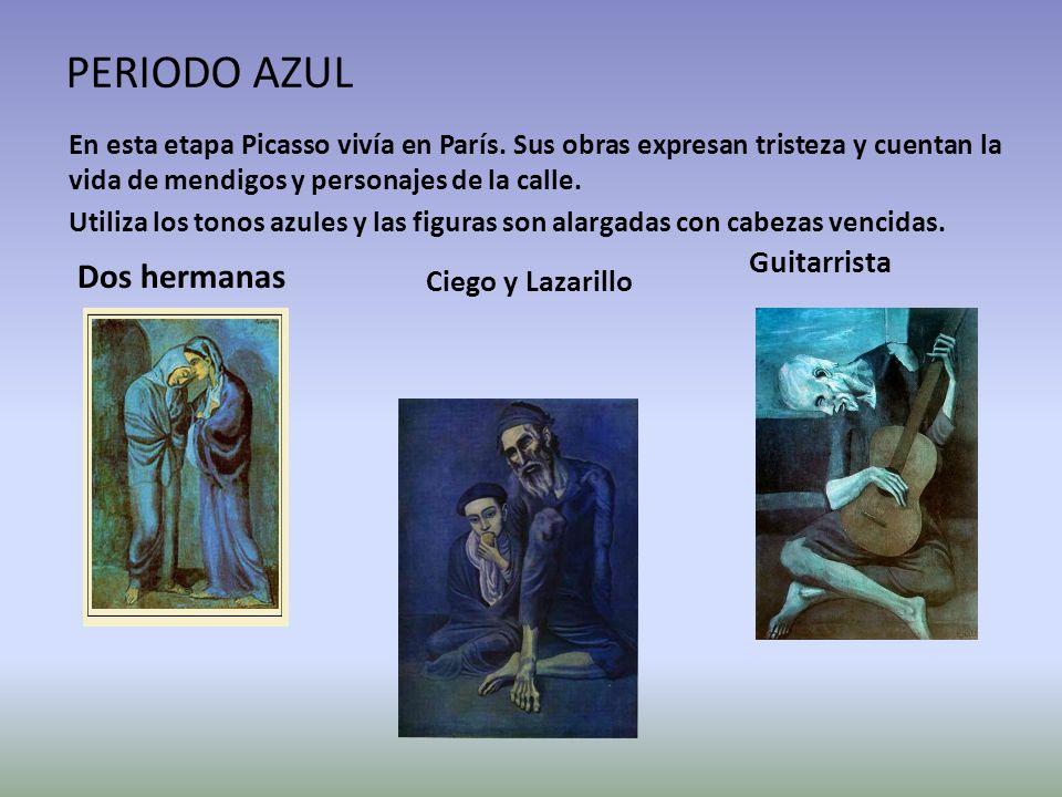 PERIODO AZUL Dos hermanas Guitarrista Ciego y Lazarillo