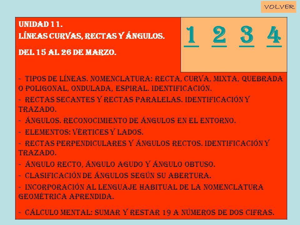 1 2 3 4 Unidad 11. LÍNEAS CURVAS, RECTAS Y ÁNGULOS.