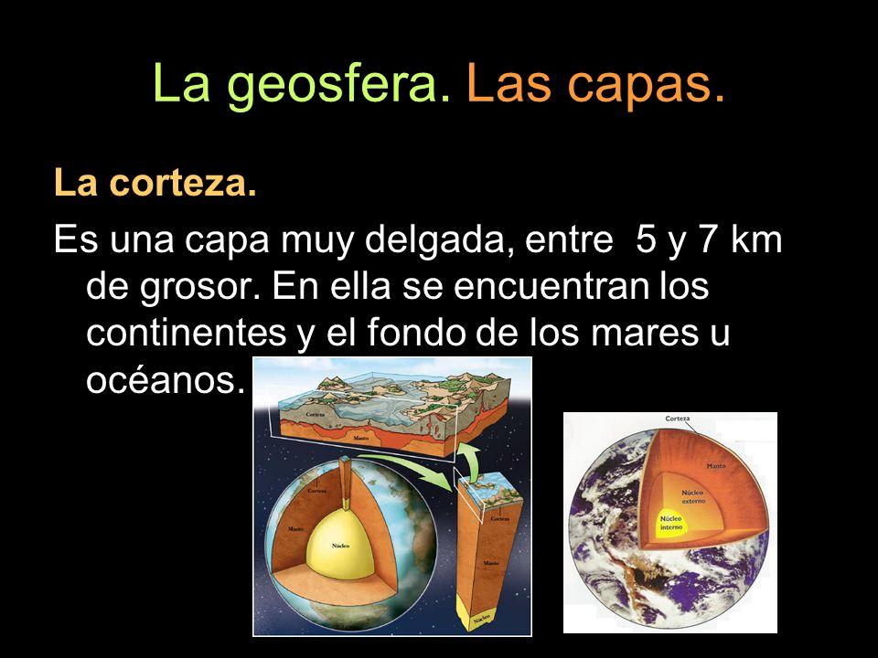 La geosfera. Las capas. La corteza.