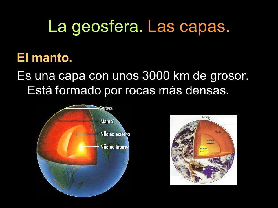 La geosfera. Las capas. El manto.