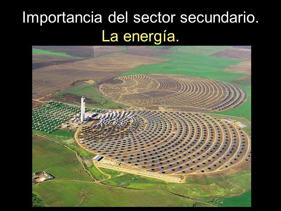 Importancia del sector secundario. La energía.