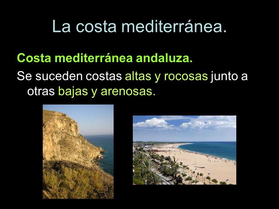 La costa mediterránea. Costa mediterránea andaluza.