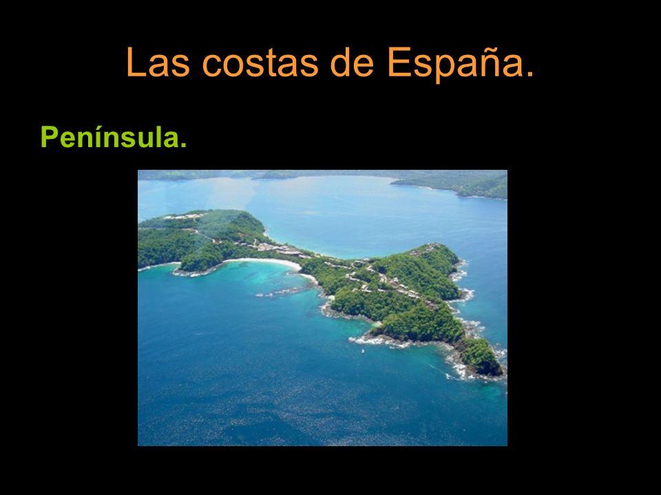 Las costas de España. Península.