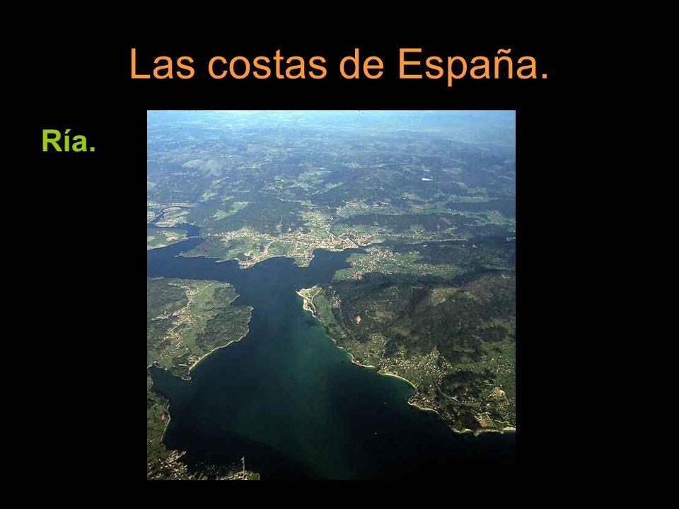 Las costas de España. Ría.