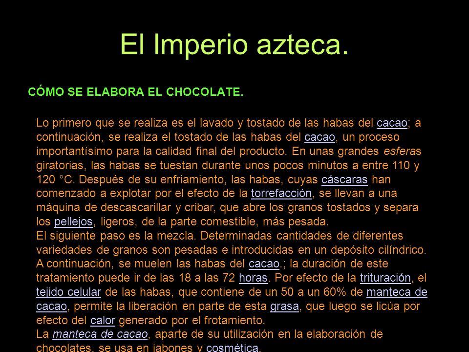El Imperio azteca. CÓMO SE ELABORA EL CHOCOLATE.