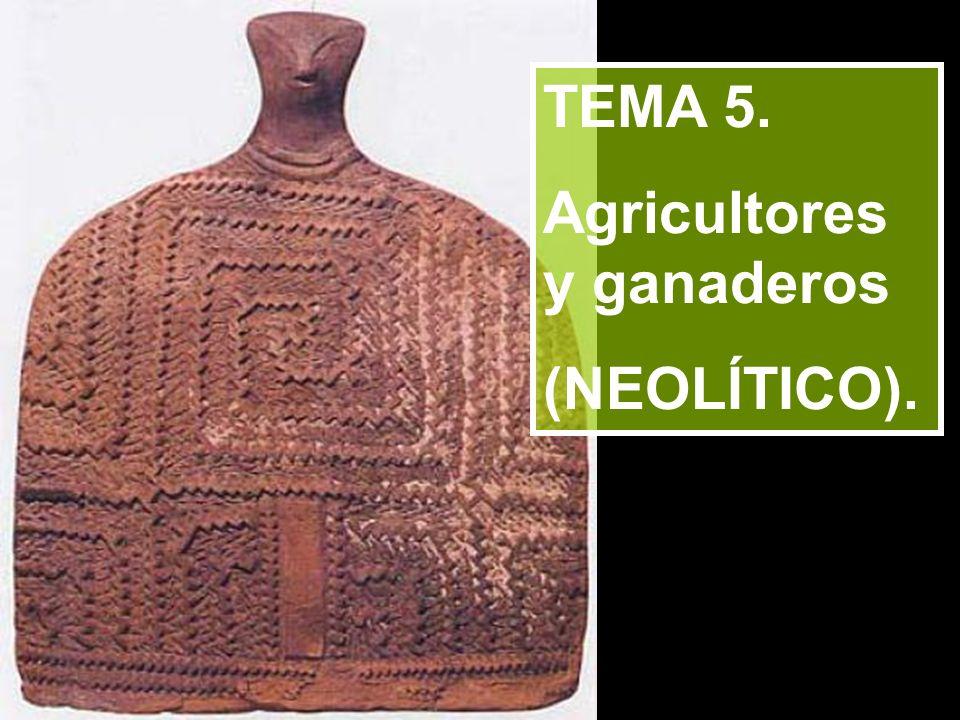 TEMA 5. Agricultores y ganaderos (NEOLÍTICO).