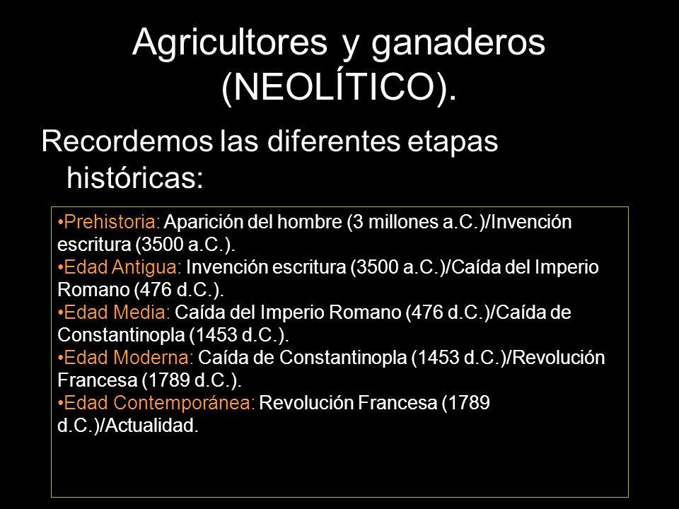 Agricultores y ganaderos (NEOLÍTICO).
