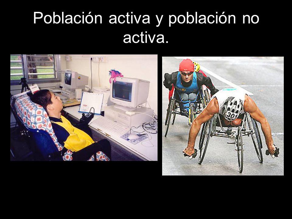 Población activa y población no activa.